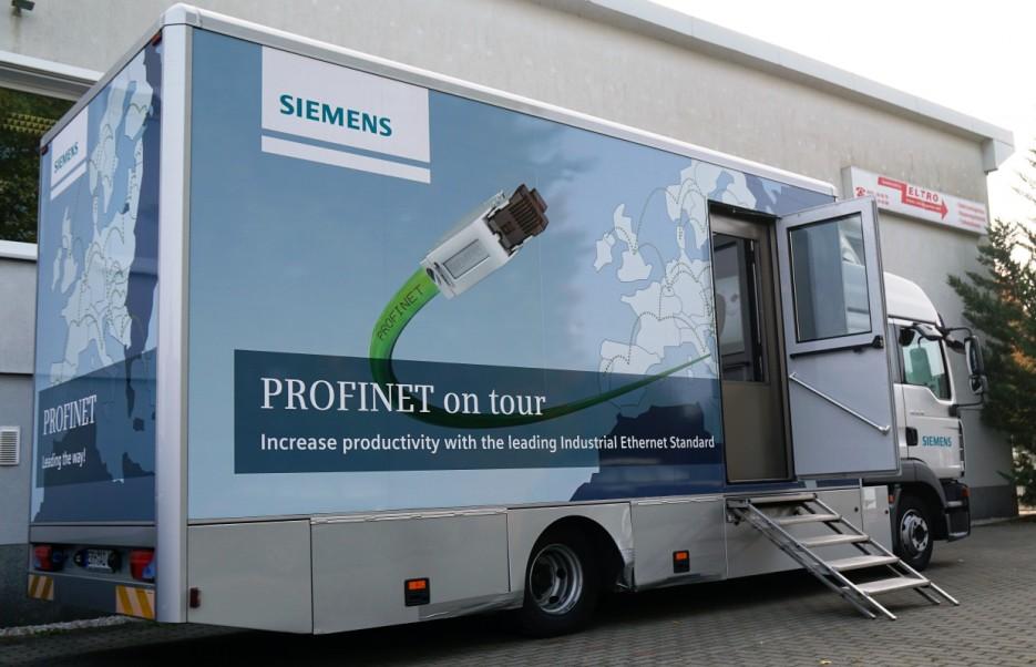Siemensmobil vor Ort